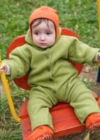 Куртки и комбинезоны для новорожденных из шерсти