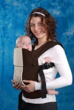 Эргономичный рюкзак Кенгуруша, Модель Fix&Go cotton - Коричнево-