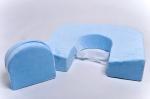 Подушка для кормления двойни «Milk Rivers Twins» плюш голубого цвета