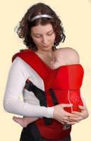 Эргономичный рюкзак Кенгуруша, Модель  Fix&Go - Красный