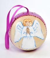 Ёлочная игрушка шар с сюрпризом Ангелочек