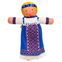 """Вязаная кукла """"Аленушка"""" в национальном русском костюме"""