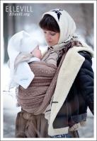 Слинг-шарф Ellevill Zara Chocco
