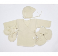 Lana Сare Подарочный Набор 2 (свитер, шапочка, пинетки) белый, 3-6 мес