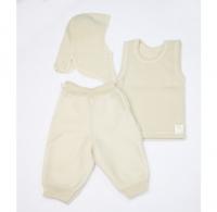 Lana Сare Подарочный Набор 5 (жилетка, штанишки, шапка-шлем) белый, 1-2 года