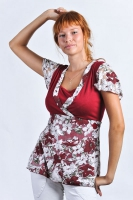 "Блуза для кормления ""Камея"" бордо"