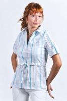 Блуза-рубашка для кормления голубые полоски