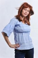 """Блузка для кормления """"Кантри"""" голубая"""