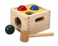 Деревянная забивалка с шарами