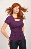 Блуза-болеро для кормления сиреневая с коротким рукавом