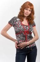 Блуза-болеро для кормления черно-красная