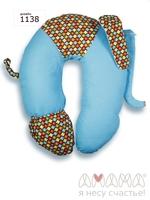 Подушка Слон Радостный бирюзовый, Амама