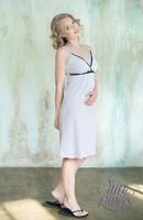 """Ночная сорочка для беременных и кормящих """"Селена"""" Milk Rivers: светло-серый меланж"""
