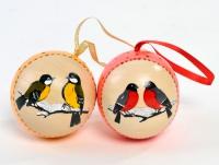 """Набор новогодних шаров """"Птичьи напевы"""""""